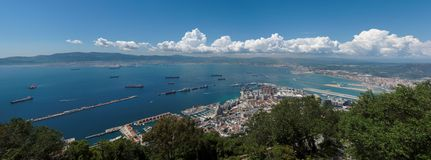 Gibraltar bay panorama Royalty Free Stock Image