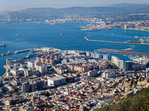 Gibraltar Bay, Town and Harbour Royalty Free Stock Photography