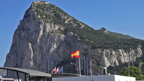 The Gibraltar border stock footage