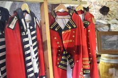 Historic Uniforms in Gibralter. Stock Photos