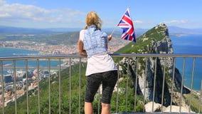 Gibraltar Brytyjski flaga zbiory wideo