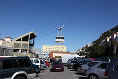 Gibraltar Cable Car Stock Image