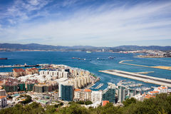 Gibraltar City and Bay Royalty Free Stock Image