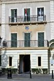 Gibralter City Hall Connaught House in 1879 royalty free stock images
