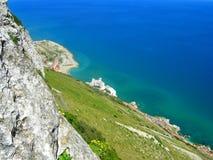 Gibraltar coast aerial view Royalty Free Stock Photo