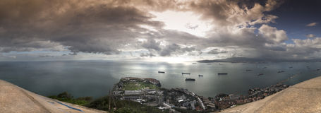 Gibraltar, the control point Royalty Free Stock Photos