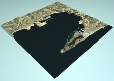 Gibraltar country, satellite view Stock Images