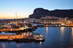 Gibraltar-Docks Stockbild