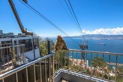 Gibraltar-Drahtseilbahn Stockfoto