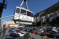 Gibraltar-Drahtseilbahn Stockfotos