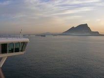 Gibraltar en la oscuridad Imagen de archivo