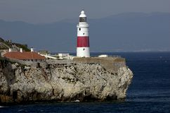 Gibraltar-Europa point Lightho Royalty Free Stock Image