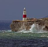 Gibraltar-Europa point Lightho Royalty Free Stock Photos