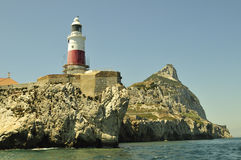 Gibraltar-Europa point Lighthouse Stock Photos
