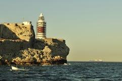 Gibraltar-Europa point Lighthouse Stock Photos