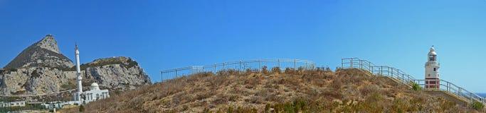 Gibraltar, Europa-Punktpanorama Lizenzfreies Stockbild