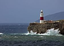 Gibraltar-Europa punt Lightho Royalty-vrije Stock Foto