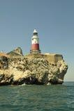 Gibraltar-Europa punt Lightho Stock Afbeelding