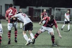 Gibraltar-Felsen-Cup-Viertelfinale - Fußball - Manchester 62 0 Stockfotos
