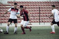 Gibraltar-Felsen-Cup-Viertelfinale - Fußball - Manchester 62 0 Lizenzfreie Stockbilder