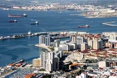Gibraltar fjärd Fotografering för Bildbyråer