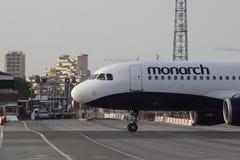 Gibraltar-Flughafen Stockfoto