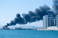 Gibraltar Fuel Tank Explosion Stock Images
