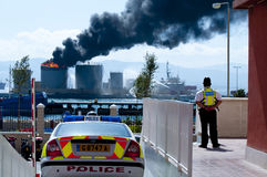 Gibraltar Fuel Tank Explosion Royalty Free Stock Photography