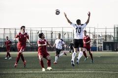 Gibraltar futbol - Europa v Europa punktu skały filiżanki Kwartalni finały Zdjęcie Royalty Free