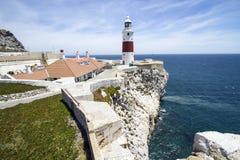 Gibraltar fyr Fotografering för Bildbyråer