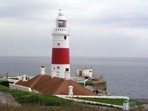 Gibraltar fyr Royaltyfri Fotografi