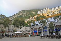Cityscape of city Gibraltar, the british territory Stock Images
