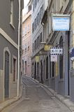 The narrow street in Gibraltar, the british territory Stock Image