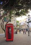 People are walking by the streets of Gibraltar Royalty Free Stock Photo