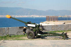 Gibraltar Gun. Gibraltar Regiment Gun used for the Strat of the Round the World Race 2007 royalty free stock images