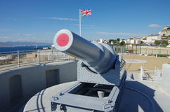 Gibraltar gun. Royalty Free Stock Photo