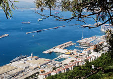gibraltar hamnport Arkivfoto