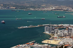 Gibraltar harbour bay traffic Royalty Free Stock Photo