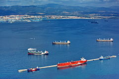 Gibraltar harbour bay traffic royalty free stock image