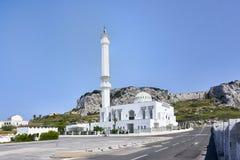 Gibraltar, het UK - de Moskee Ibrahim-al-Ibrahim in Gibraltar, Royalty-vrije Stock Fotografie