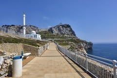 Gibraltar, het UK - de Moskee Ibrahim-al-Ibrahim in Gibraltar, Royalty-vrije Stock Foto's