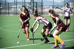 Gibraltar hockey - Grammarians HC versus Malaga Spain Royalty Free Stock Image