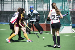 Gibraltar hockey - Grammarians HC versus Malaga Spain Royalty Free Stock Photos