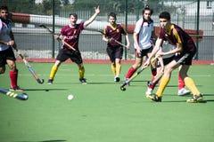 Gibraltar hockey - Grammarians HC versus Malaga Spain Royalty Free Stock Photo