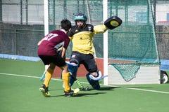 Gibraltar hockey - Grammarians HC versus Malaga Spain Stock Photos