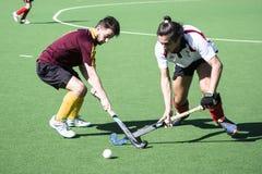Gibraltar hockey - Grammarians HC versus Malaga Spain Stock Photo