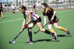 Gibraltar hokej - gramatycy HC versus Malaga Hiszpania Obrazy Royalty Free