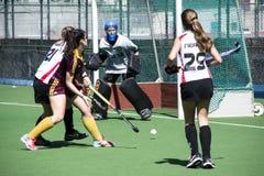 Gibraltar hokej - gramatycy HC versus Malaga Hiszpania Zdjęcia Royalty Free