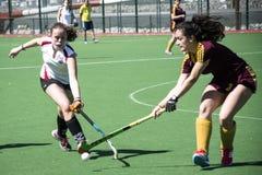 Gibraltar hokej - gramatycy HC versus Malaga Hiszpania Zdjęcie Royalty Free
