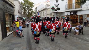 Gibraltar huvudsaklig gata Arkivfoto